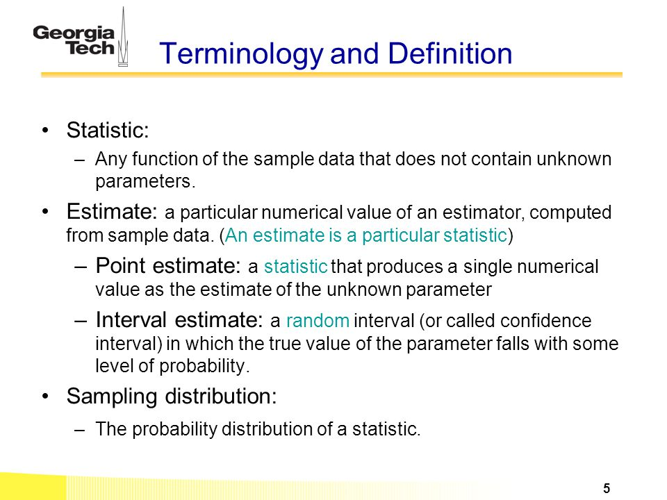 Terminology and Definition