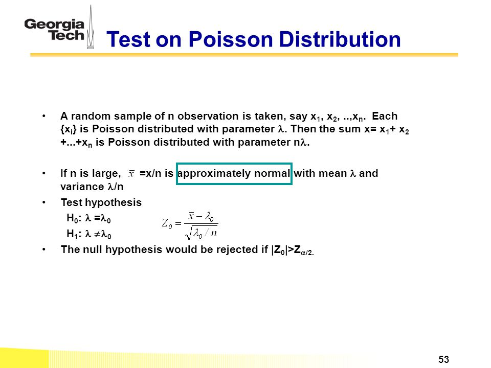 Test on Poisson Distribution