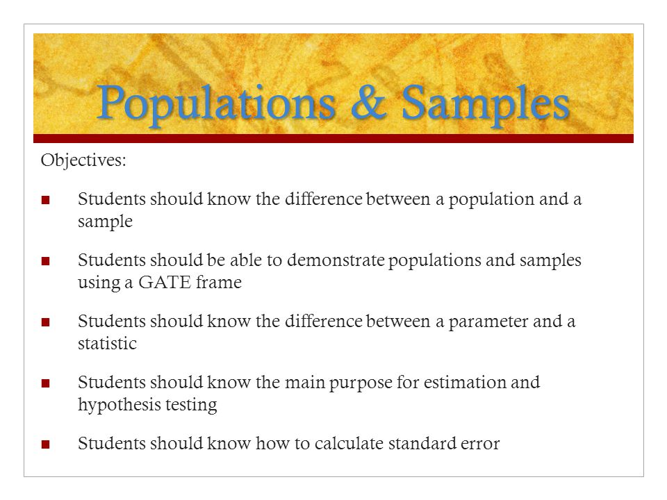 Difference Between Sampling Frame And Population Page 2