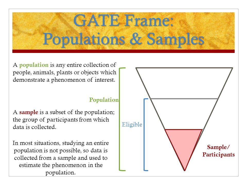 GATE Frame: Populations & Samples