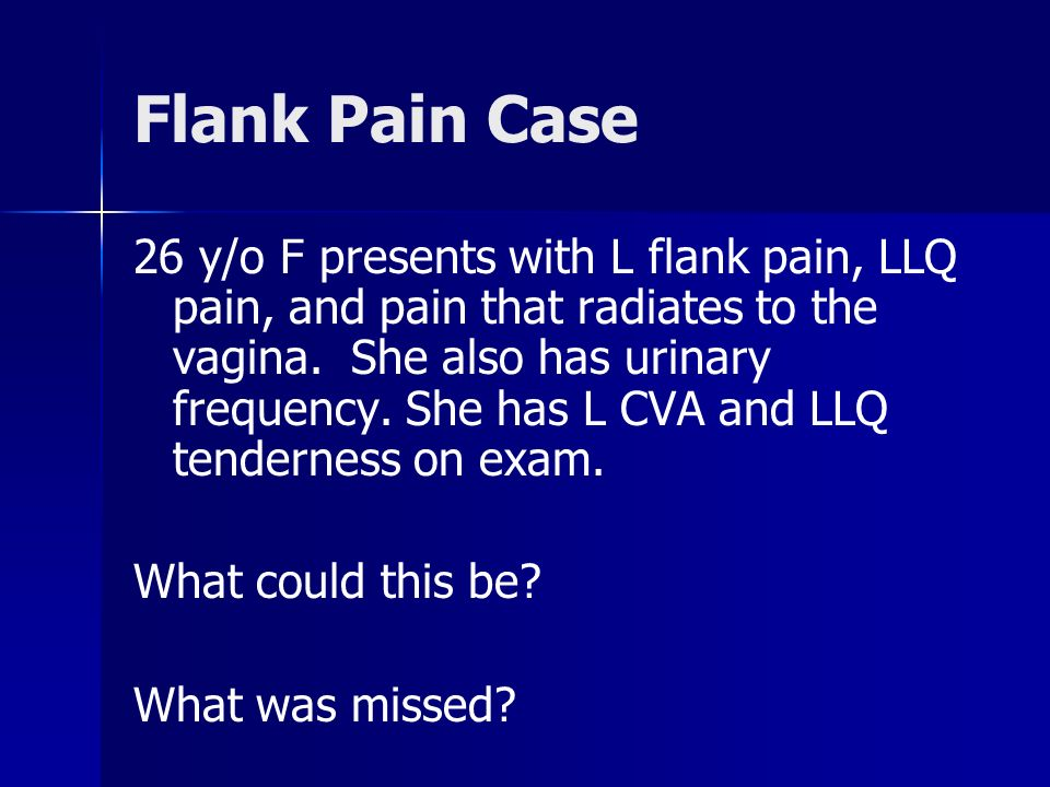 Flank Pain Case