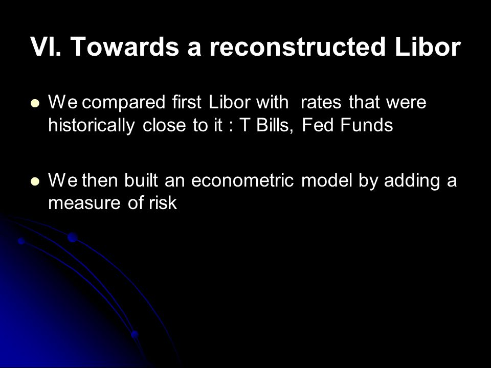 VI. Towards a reconstructed Libor