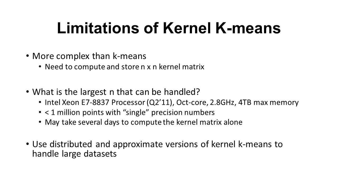 Limitations of Kernel K-means