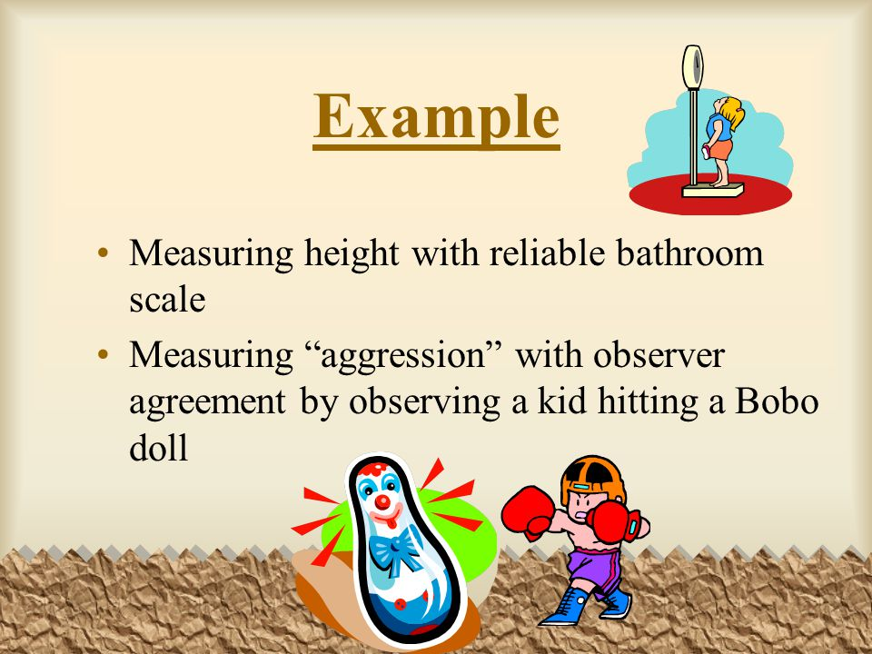 Example Measuring height with reliable bathroom scale