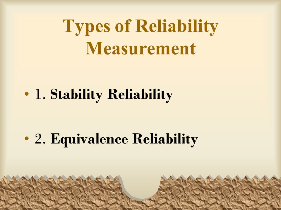 Types of Reliability Measurement