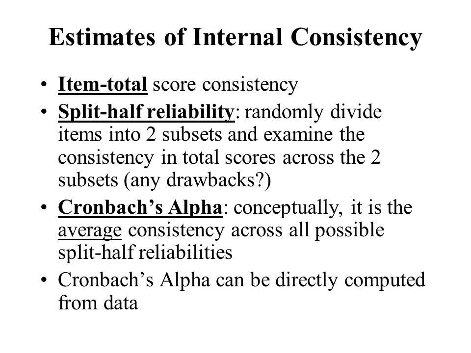 Estimates of Internal Consistency
