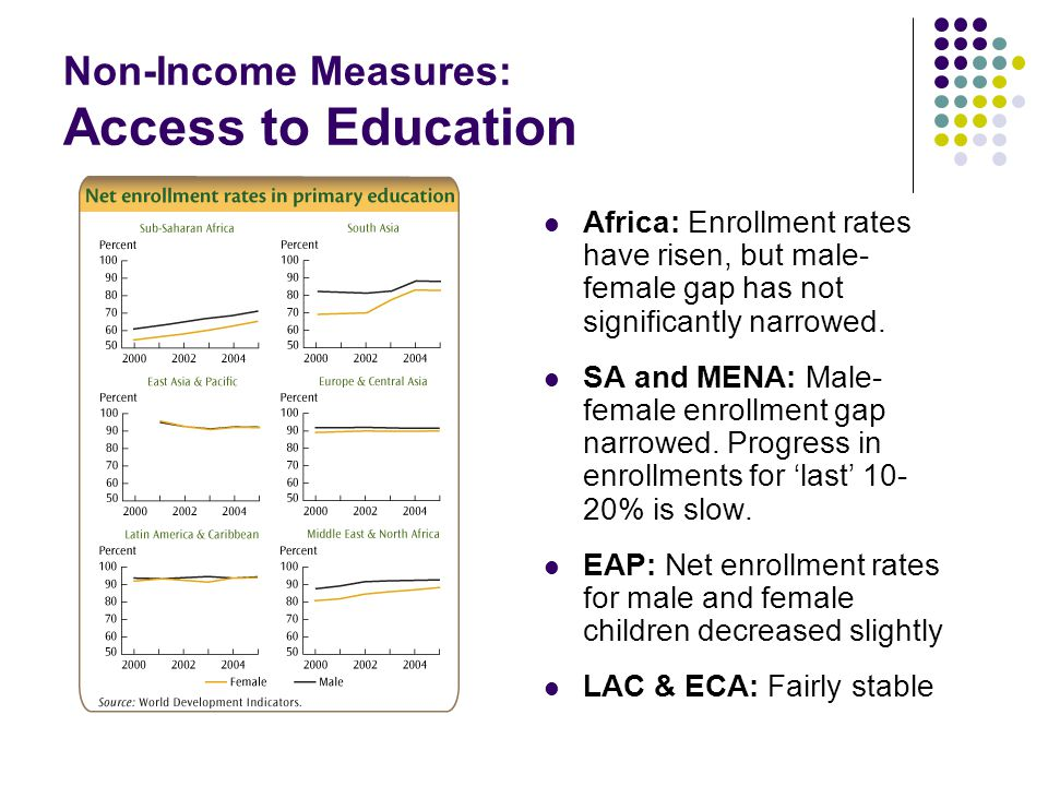 Non-Income Measures: Access to Education
