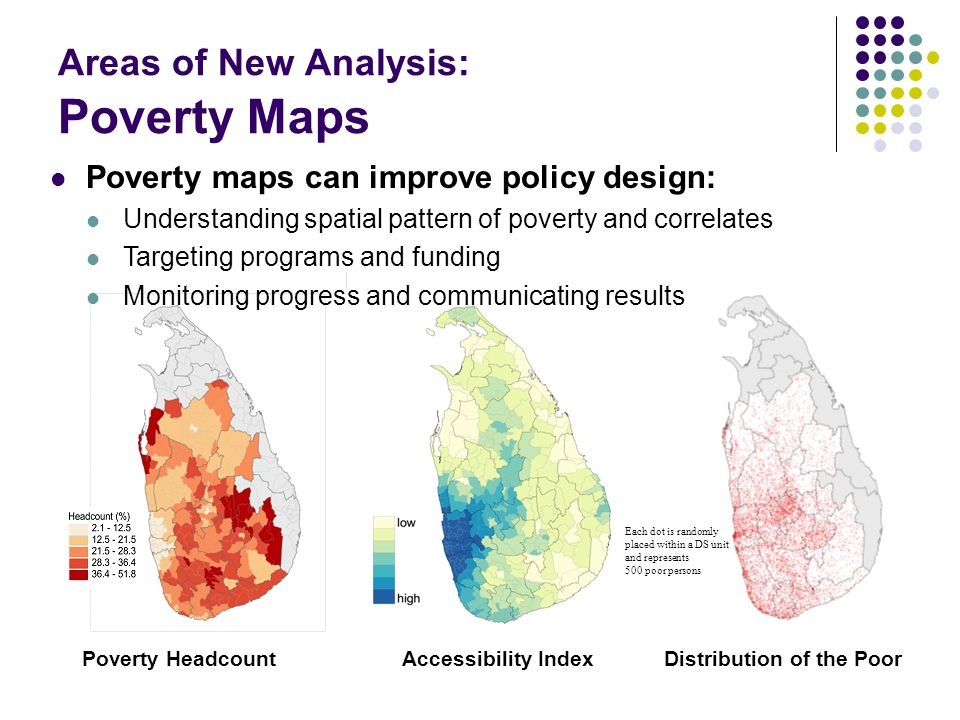 Areas of New Analysis: Poverty Maps