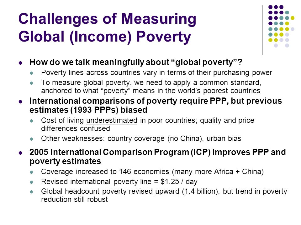 Challenges of Measuring Global (Income) Poverty