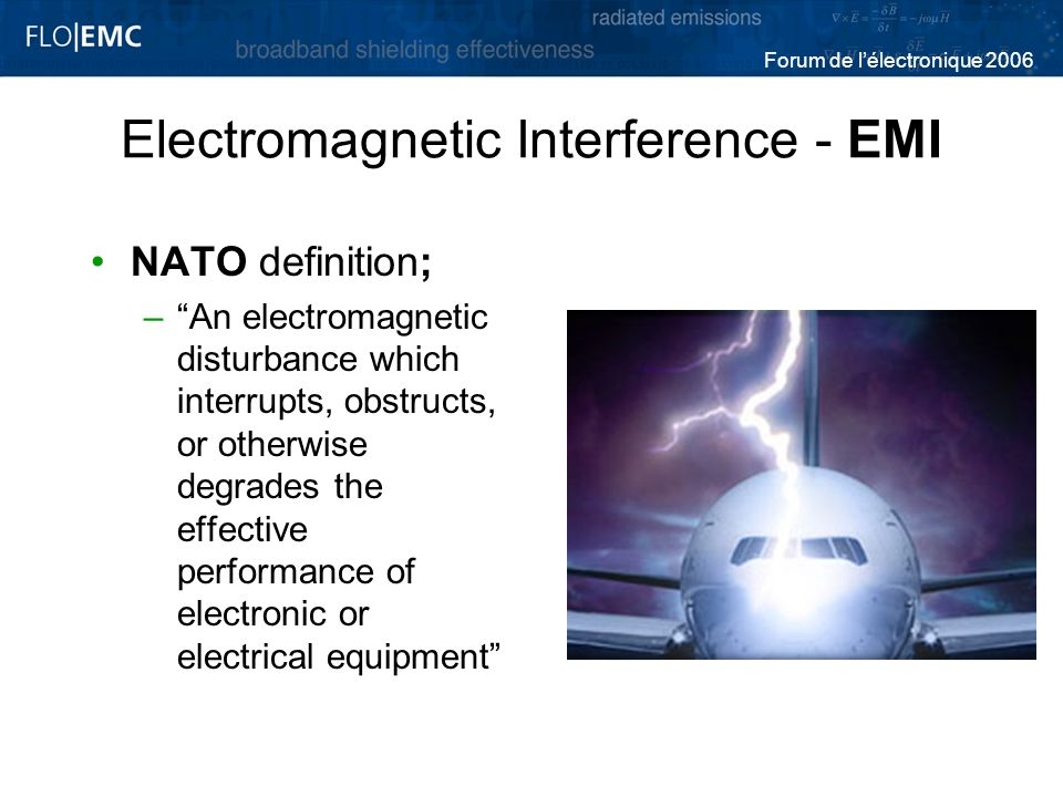 Electromagnetic Interference - EMI