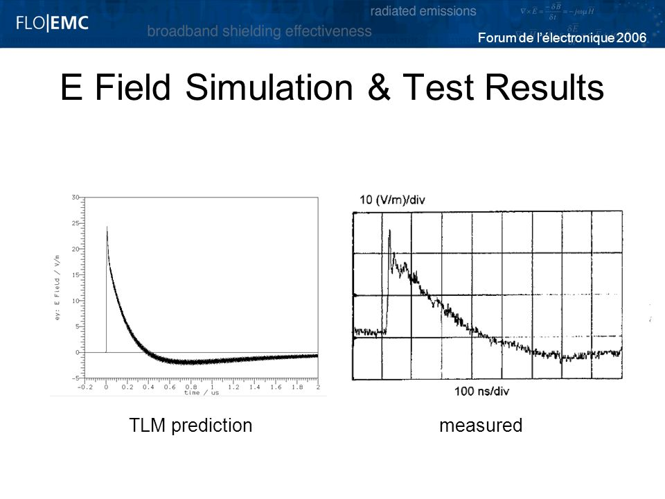 E Field Simulation & Test Results
