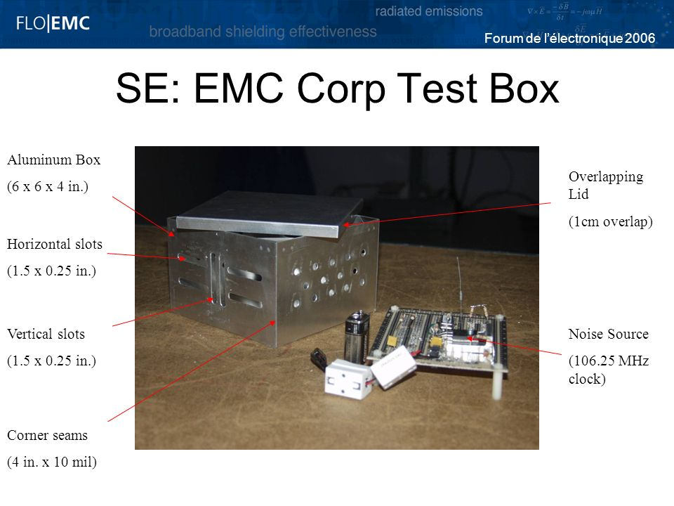 SE: EMC Corp Test Box Aluminum Box (6 x 6 x 4 in.) Overlapping Lid