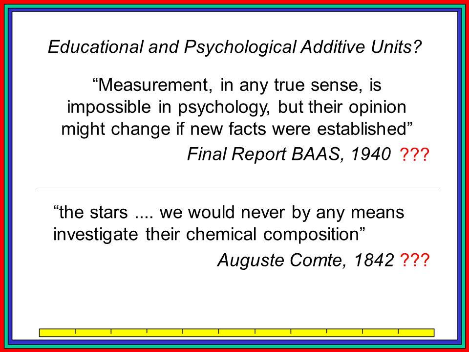 Educational and Psychological Additive Units