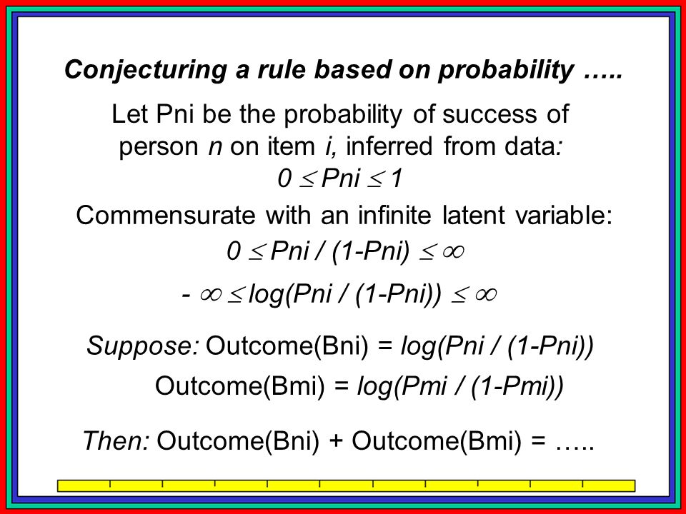 Conjecturing a rule based on probability …..