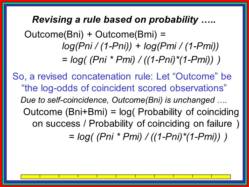 Revising a rule based on probability …..