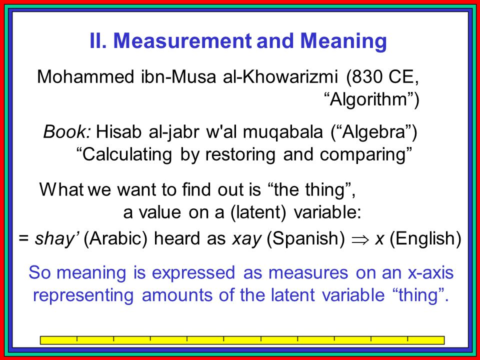 II. Measurement and Meaning