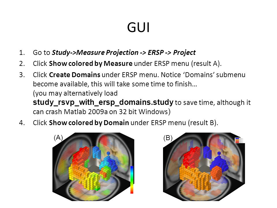 GUI Go to Study->Measure Projection -> ERSP -> Project