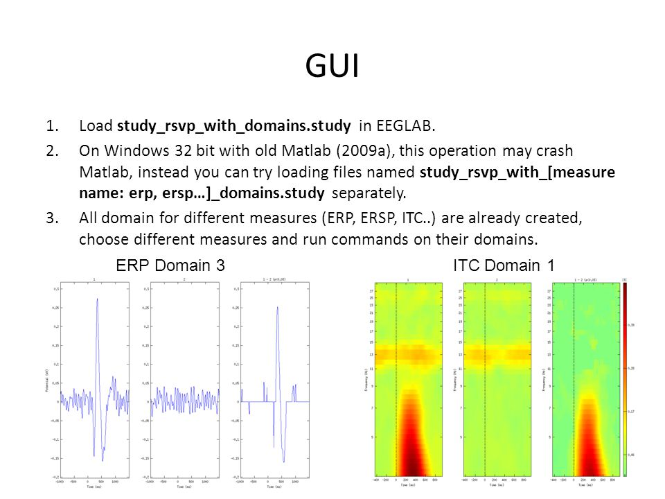 GUI Load study_rsvp_with_domains.study in EEGLAB.