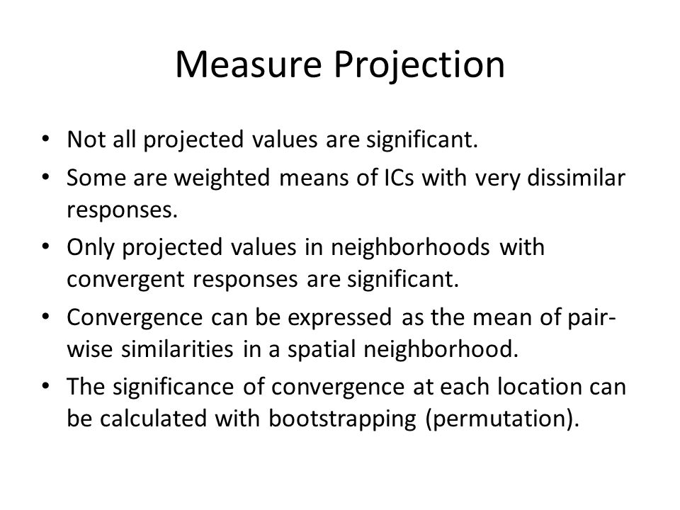 Measure Projection Not all projected values are significant.