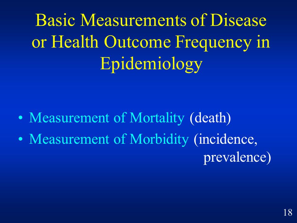Basic Measurements of Disease or Health Outcome Frequency in Epidemiology