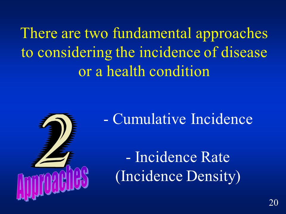 - Cumulative Incidence