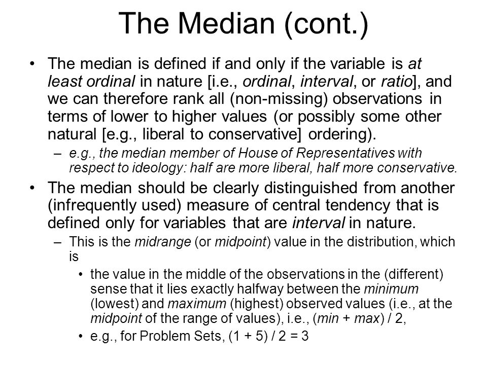 The Median (cont.)