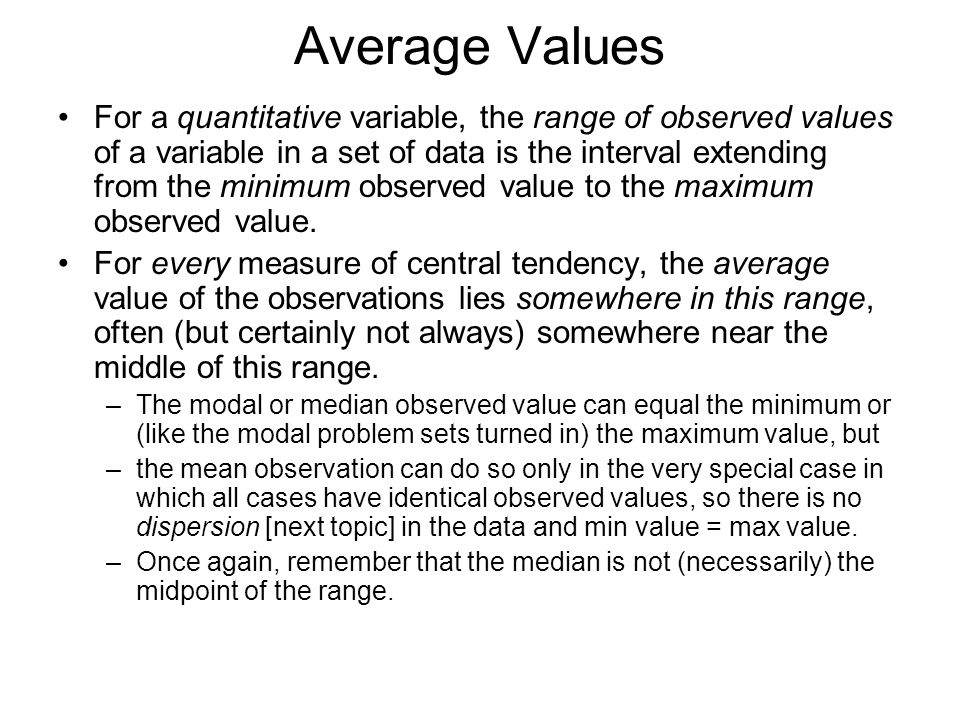 Average Values