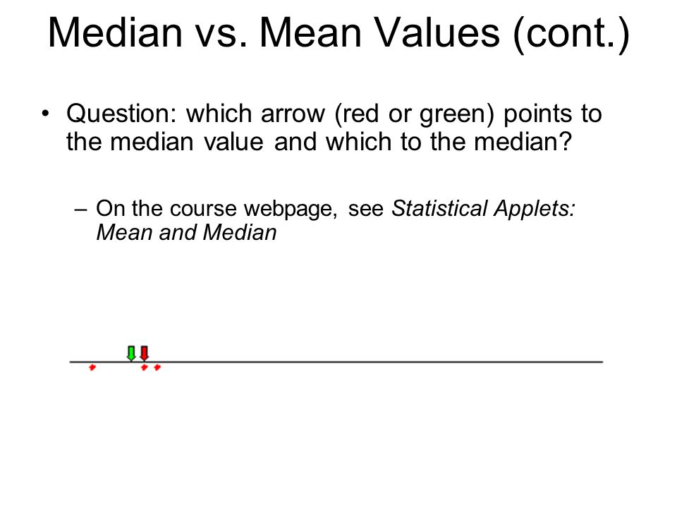 Median vs. Mean Values (cont.)