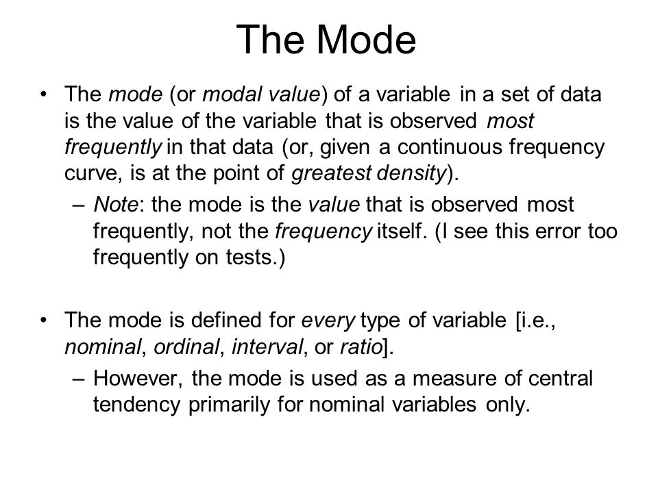 The Mode