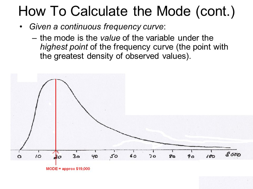 How To Calculate the Mode (cont.)
