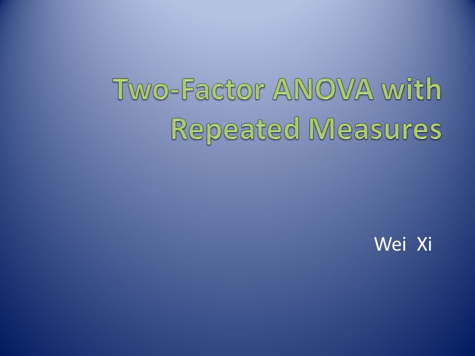 Two-Factor ANOVA with Repeated Measures