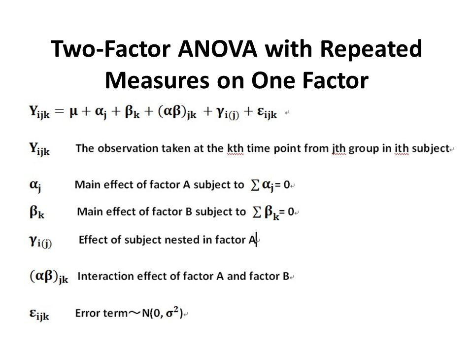 Two-Factor ANOVA with Repeated Measures on One Factor