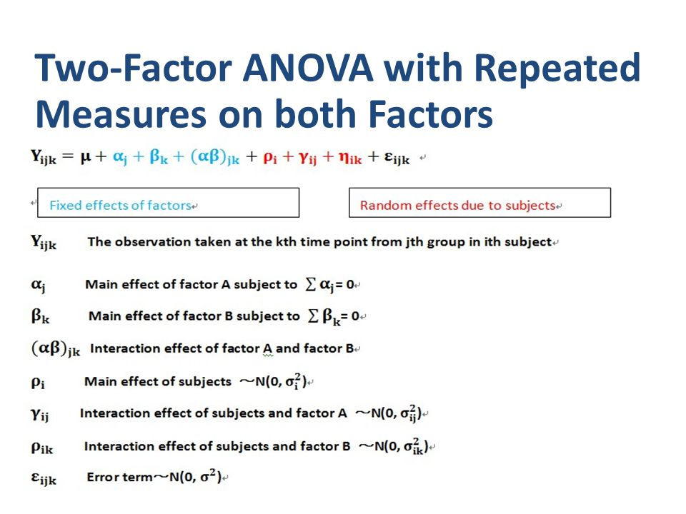 Two-Factor ANOVA with Repeated Measures on both Factors