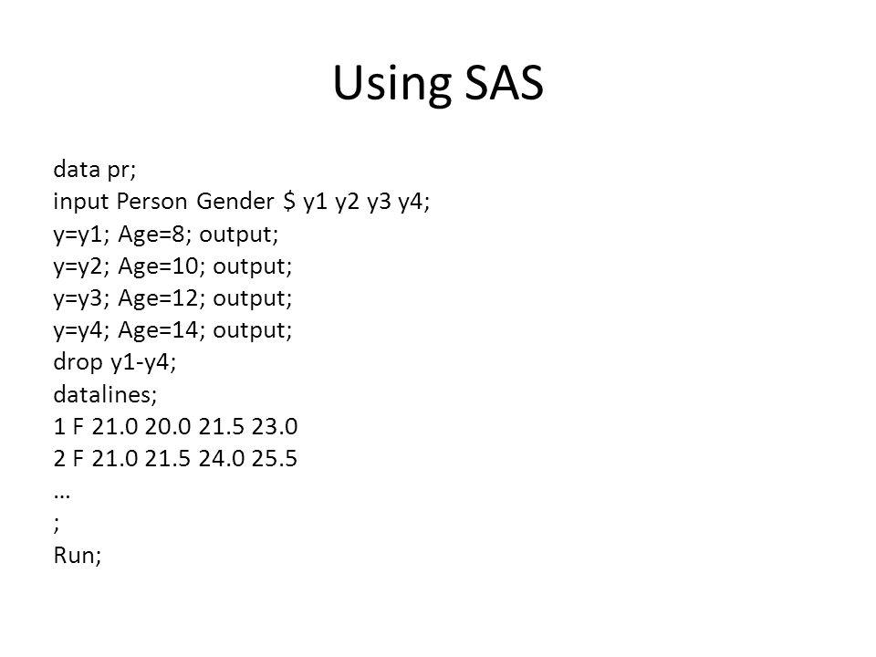 Using SAS