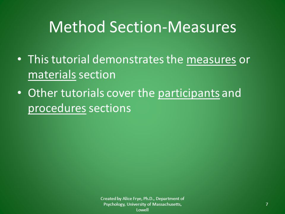 Method Section-Measures