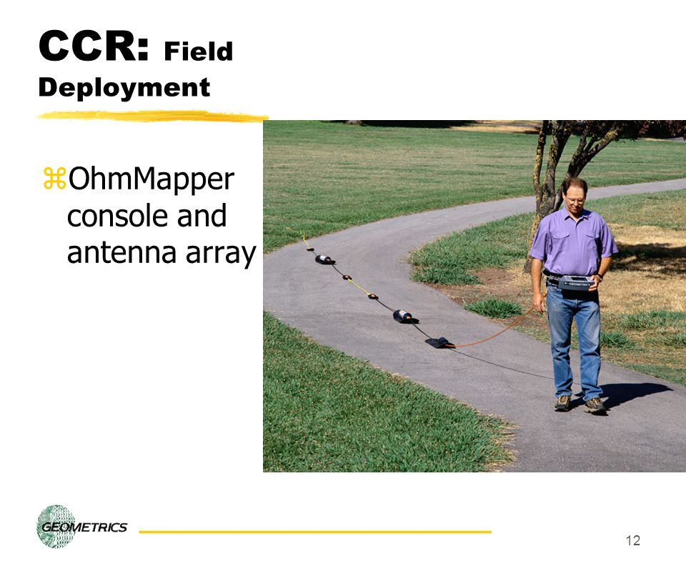 CCR: Field Deployment OhmMapper console and antenna array