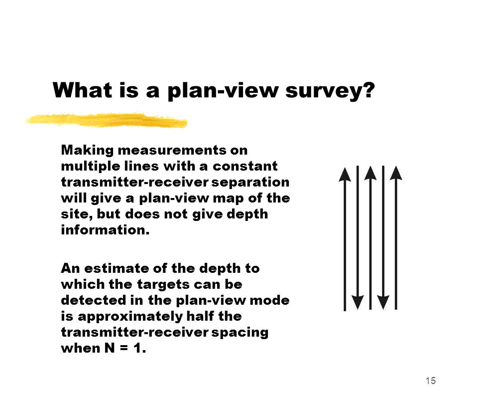 What is a plan-view survey