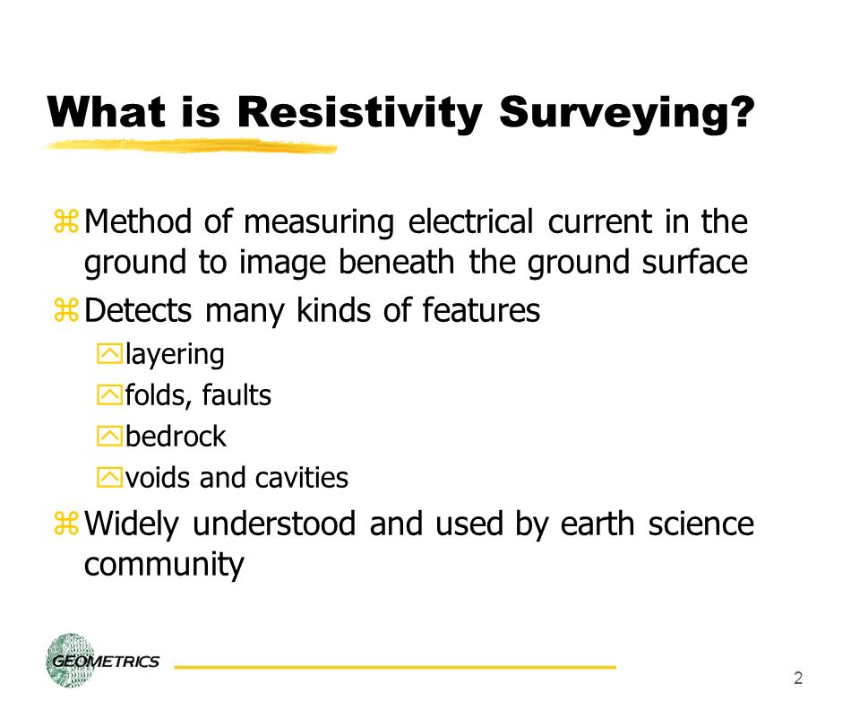What is Resistivity Surveying