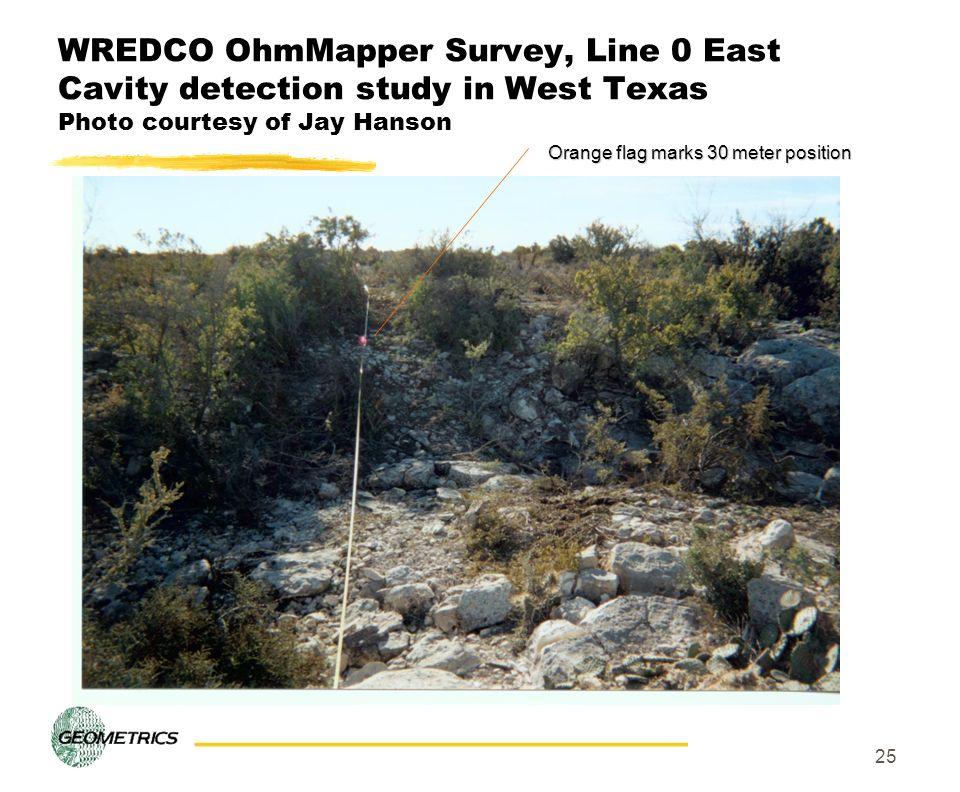 Orange flag marks 30 meter position