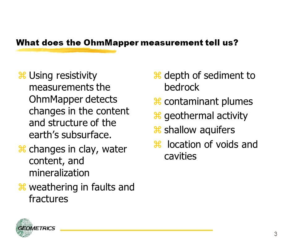 What does the OhmMapper measurement tell us
