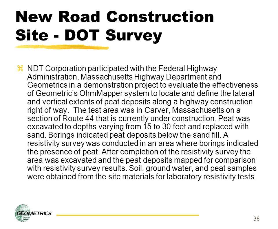 New Road Construction Site - DOT Survey