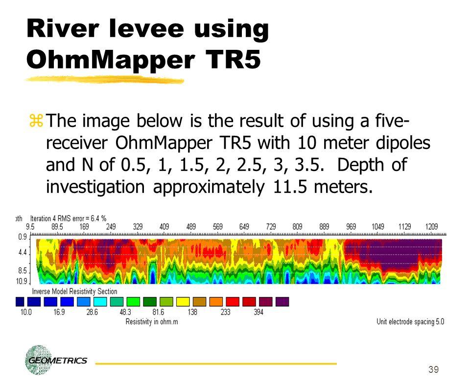 River levee using OhmMapper TR5