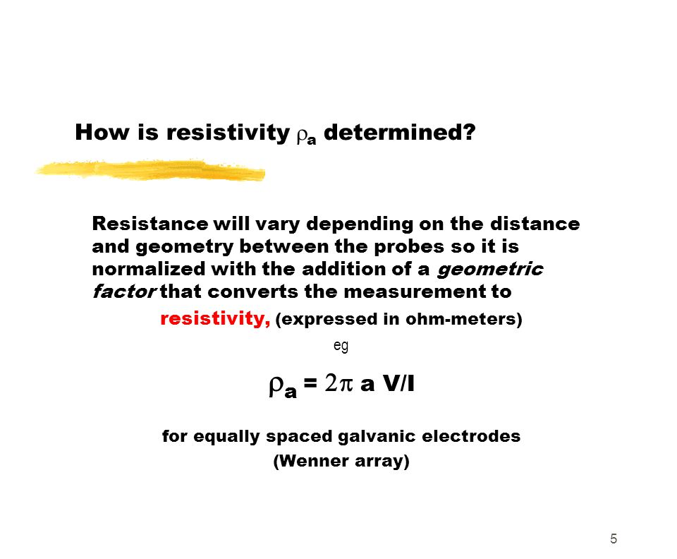 How is resistivity ra determined