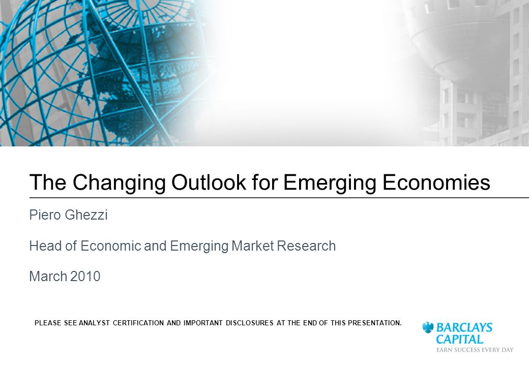 The Changing Outlook for Emerging Economies
