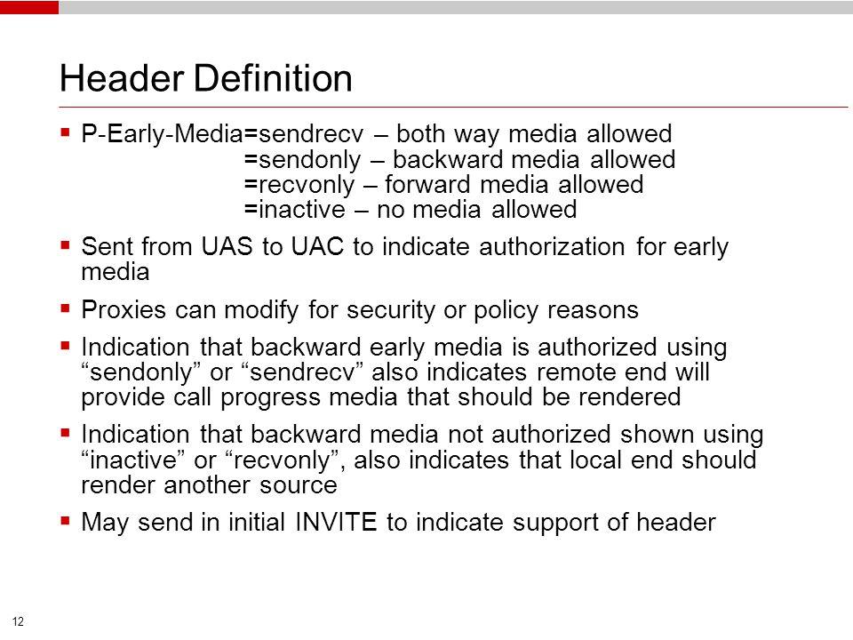 Header Definition