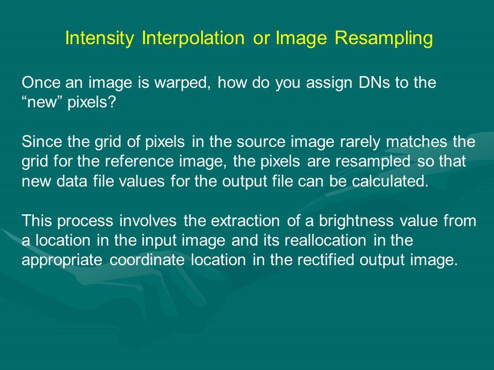 Intensity Interpolation or Image Resampling