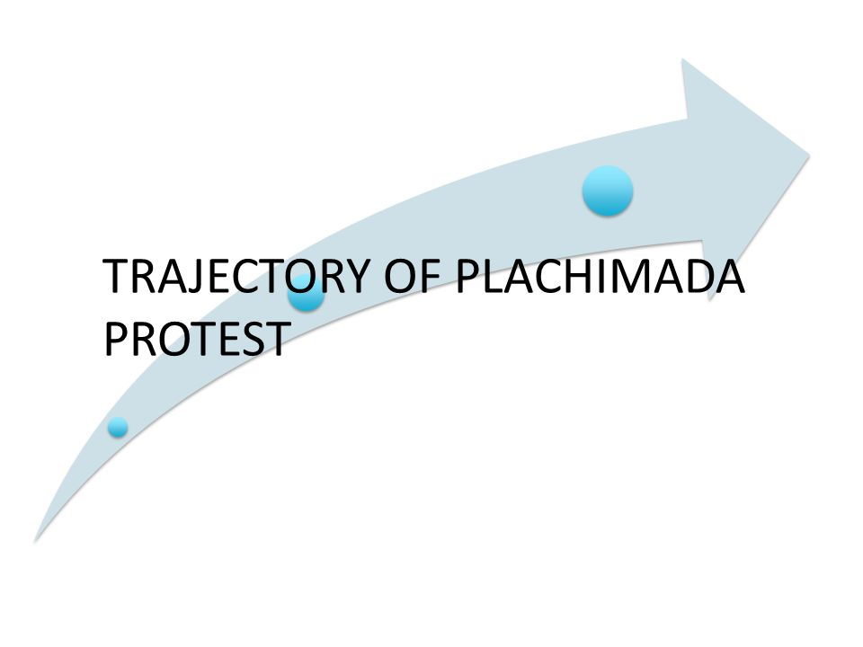 TRAJECTORY OF PLACHIMADA PROTEST