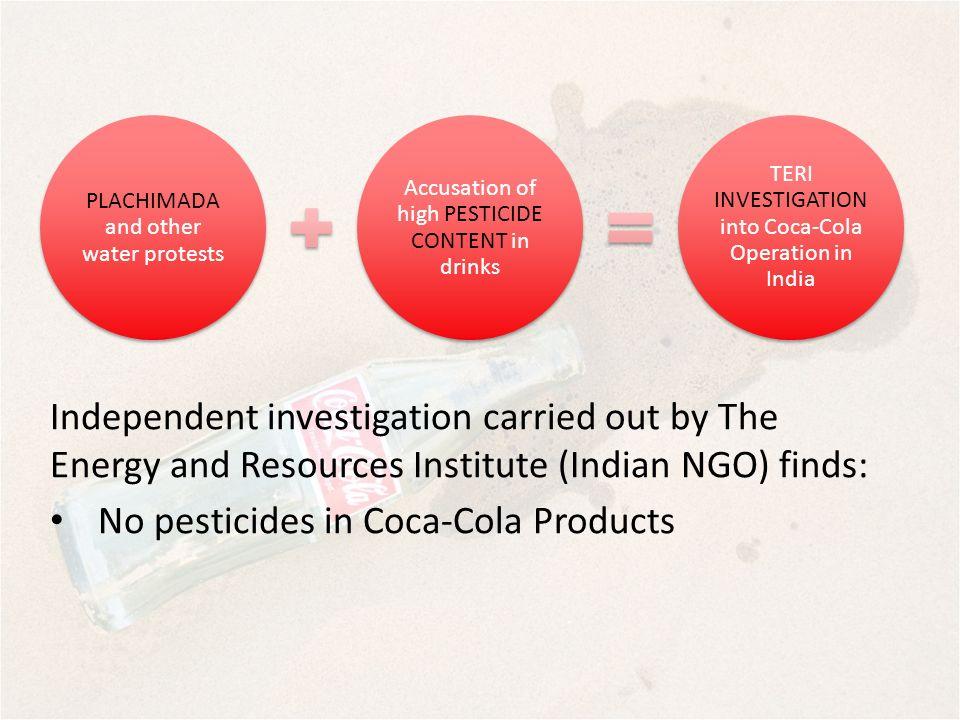 No pesticides in Coca-Cola Products