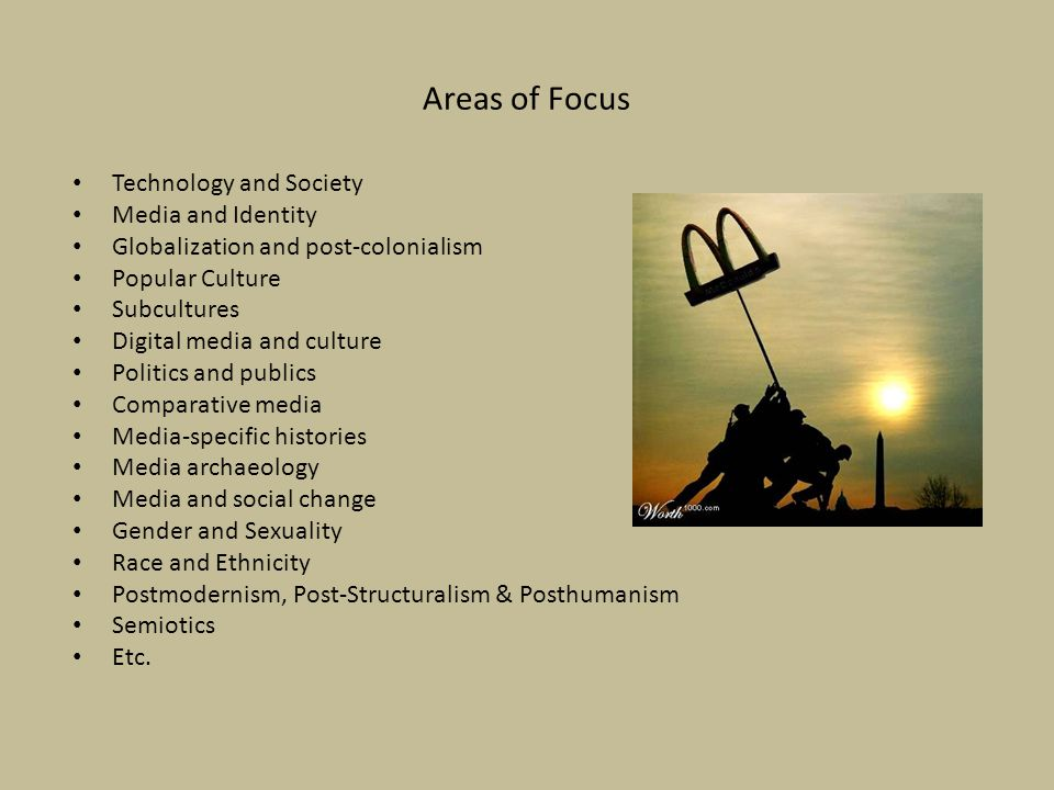 Areas of Focus Technology and Society Media and Identity