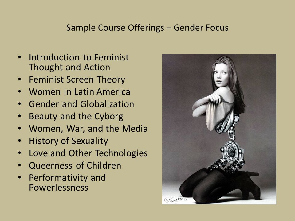 Sample Course Offerings – Gender Focus